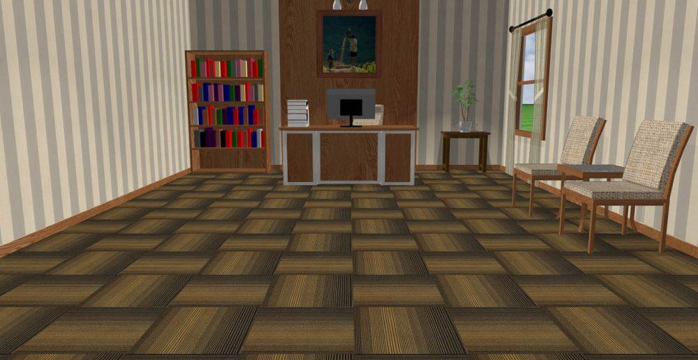 Thảm tấm ART S4 màu nâu