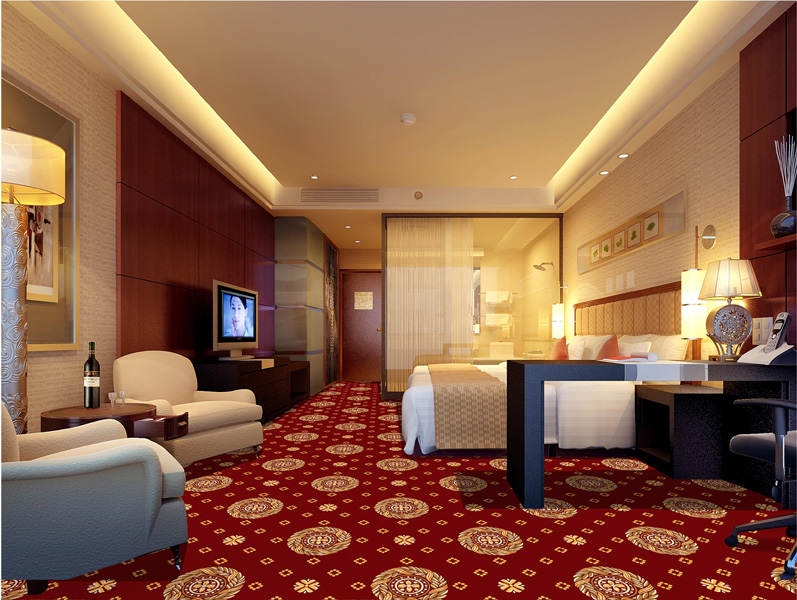Thảm hoa khách sạn DS80-6-Dark-Red