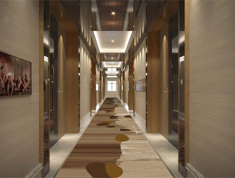 Thảm trải sàn hành lang màu sáng
