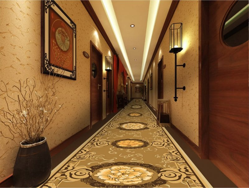 Thảm trải sàn khách sạn màu sáng