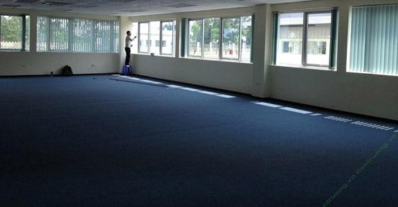 Thảm trải sàn BH màu xanh