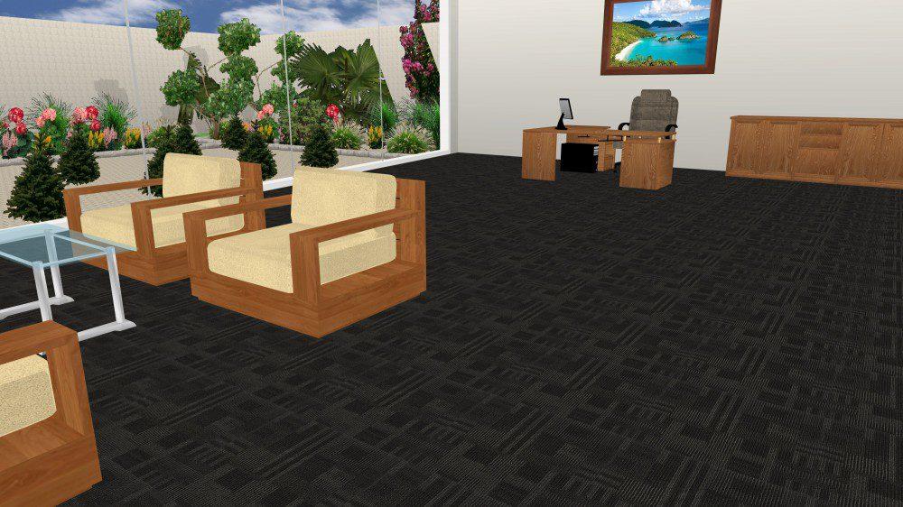 Thảm văn phòng GA7 màu ghi đen