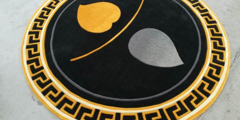 Thảm trang trí hình tròn   Tham trai san