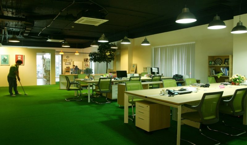 Thảm màu xanh lá